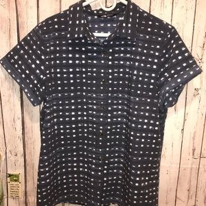 The North Face button front top XL